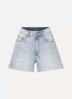Ksubi Frayed Denim Shorts - Mid denim