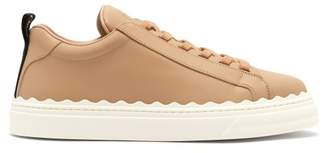 Chloé Lauren Low Top Leather Trainers - Womens - Nude