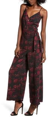All in Favor Floral Print Wide Leg Jumpsuit