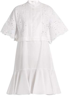 Erdem Kathy Half Placket Broderie Anglaise Dress - Womens - White