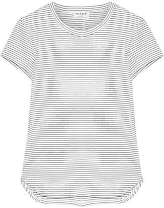 Frame Striped Stretch Modal-blend Jersey T-shirt - White