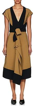 Proenza Schouler Women's Cady & Crepe Ruffle Dress - Olive, Black