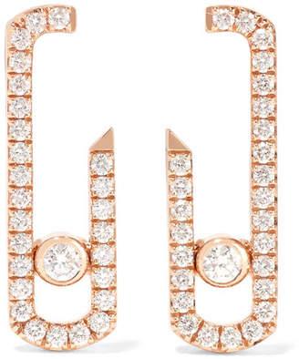 Möve Messika - Gigi Hadid Addiction 18-karat Rose Gold Diamond Earrings