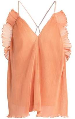 Alice McCall Lady Be Good Ruffled Plissé Cotton-Blend Camisole