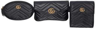 Gucci Black GG Marmont Belt Bag