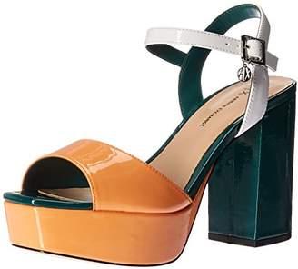 Armani Exchange A|X Women's Patent Leather Strappy Heel Heeled Sandal 10 Medium US