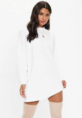 Missguided White Basic Sweater Dress