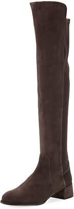 Stuart Weitzman Fifo Suede Stretch Over-the-Knee Boots