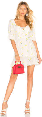 For Love & Lemons Ashland Lace Up Dress