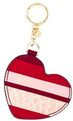 MICHAEL Michael Kors Leather Heart Keychain w/ Tags