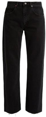 Raey Press Straight Leg Jeans - Womens - Black