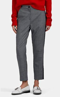 Rag & Bone Women's Meki Checked Wool-Blend Trousers - Gray