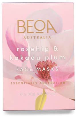 Australian Designed 5pk Rosehip & Kakadu Plum Masks