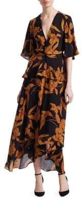 A.L.C. Women's Avi Floral Knot Dress - Black - Size 2