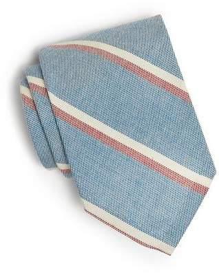 Todd Snyder Cotton Oxford Double Stripe Tie in Blue