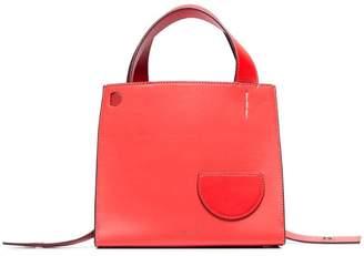 Danse Lente coral Margot leather top-handle tote