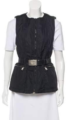 Prada Leather Accented Belt