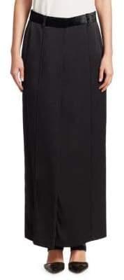 Brunello Cucinelli Women's Slit Maxi Skirt - Black - Size 42 (6)