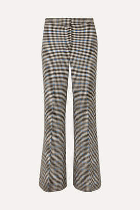 J.W.Anderson Houndstooth Wool And Cotton-blend Flared Pants - Brown