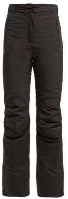 Fendi High Rise Padded Technical Ski Trousers - Womens - Black