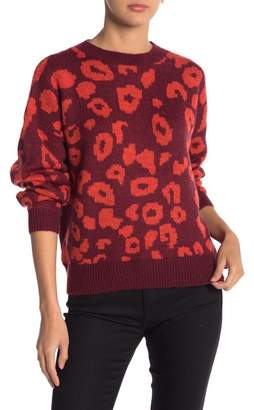 Abound Animal Print Jacquard Sweater