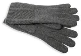 Portolano Textured Cashmere Gloves