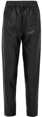 Tibi Leather Pants - Black