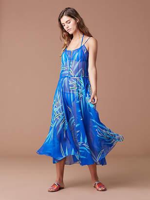 Diane von Furstenberg Cinch Waist Maxi Dress