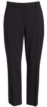 Theory Women's Treeca Pinstripe Suit Pants - Charcoal Melange - Size 0