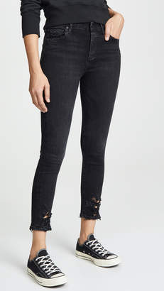 A Gold E AGOLDE Sophie Crop High Rise Skinny Jeans