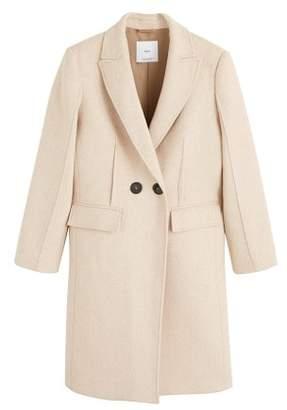 MANGO Contrast buttons coat