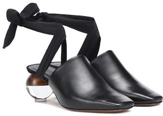 Neous Brough leather mules