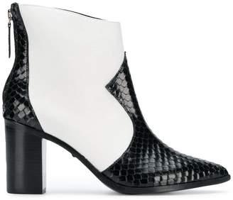 Schutz two tone western boots