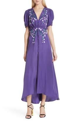 Saloni Lea Silk Midi Dress