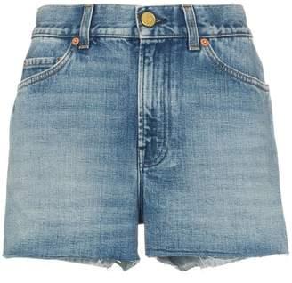 Gucci denim strawberry patch shorts