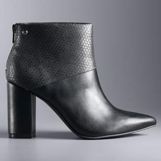 Vera Wang Simply Vera Parrot Women's High Heel Ankle Boots