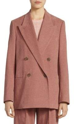 Acne Studios Women's Double-Breasted Corded Blazer - Old Pink - Size 34 (2)
