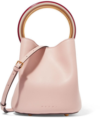 Marni Pannier Leather Bucket Bag - Pastel pink