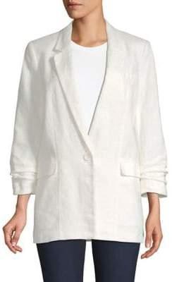 Joie Women's Kishina Linen Blazer - Porcelain - Size 4