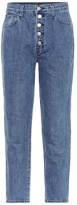 J Brand Heather high-rise straight jeans