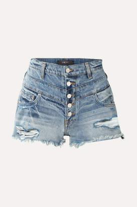 Amiri Distressed Denim Shorts - Blue