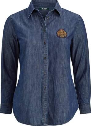 Ralph Lauren Crest-Patch Denim Shirt
