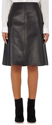 Barneys New York Women's Patch-Pocket Leather Skirt - Black