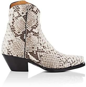 R 13 Women's Snakeskin Cowboy Boots
