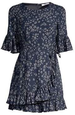 LIKELY Women's Delilah Star Graphic Wrap Romper - Navy - Size 8
