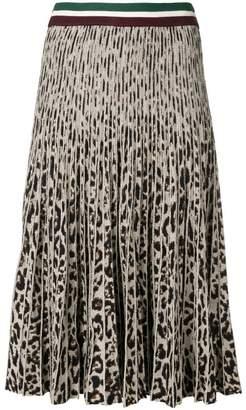 Baum und Pferdgarten pleated leopard print skirt