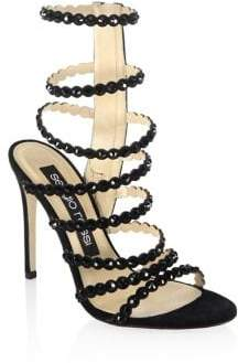 Sergio Rossi Women's Kimberly Crystal Gladiator Sandals - Champagne - Size 35.5 (5.5)