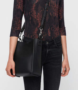 AllSaints Voltaire Leather Small North South Tote Bag