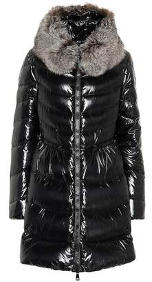 Moncler Mirielon fur-trimmed down coat