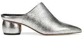 Vince Women's Eaton Block Heel Mule - Silver - Size 10
